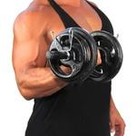 KIT Musculação Completo Barras 20 kg Anilhas Pintadas