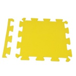 Tatame Eva Piso Borracha Tapete De Encaixe 50x50x1cm Amarelo