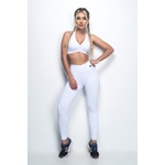 Calça Legging Fitness Comfort Branca