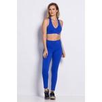 Calça Legging Fitness Comfort Azul Bic