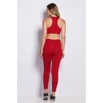 Calça Legging Fitness Comfort Vermelha