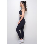 Calça Legging Fitness Emana Liso Preto