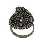 Anel Indiano Gota em Prata 925