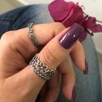 Anel Flores em Prata 925