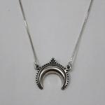 Gargantilha Lua Indiana em Prata 925