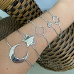 Bracelete Ajustável com Estrela em Prata 925