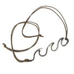Tornozeleira Ondas com Corda em Prata 925