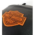 Mochila De Couro , Modelo Tron Logo a Laser customizado harley