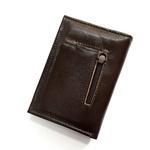 Carteira de couro - porta Documentos e porta moedas café