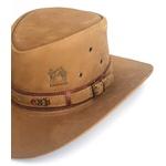 Chapéu de couro modelo Australiano caçador pescador