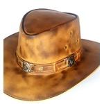 Chapéu De couro modelo cavalo rustico country rodeio lançamento