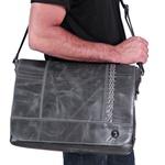 Bolsa de ombro pasta tiracolo Postman couro verdadeiro moderna estilo urbano