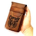 Capinha Capa para Smartphone feita em couro Bovino Original Costurada a mão