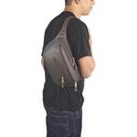 Pochete porta Arma de couro com coldre interior