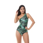 Body Larulp Merced One Shoulder Sleeve - PTO/FOLHAS VERDE