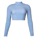 Melina Azul - Blusa Gola