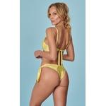 Bella Amarelo - Calcinha Leque Amarração