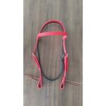 Cabeçada de Silicone Top Equine Vermelho c/ Preto C/ Afogador 5090