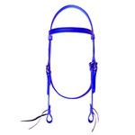 Cabeçada de Silicone Top Equine Azul Royal C/ Afogador 4928