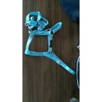 Cabresto para Cavalo Nylon Azul Turquesa Mhorse 4921