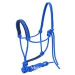 Cabresto para Cavalo 7 nós em Nylon Azul Royal c/ Cabo Sport Equine 5019