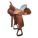 Sela de couro Três Tambores, Team Penning, Ranch Sorting, Letícia Country 3302