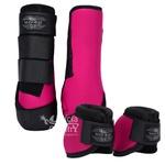 Kit Dianteiro Cloche e Caneleiras Pink MHorse 4967