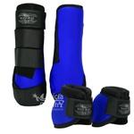 Kit Dianteiro Cloche e Caneleiras Azul Royal MHorse 4836