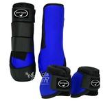 Kit Dianteiro Cloche e Caneleiras Azul Royal Sport Equine 5219