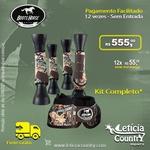 Kit Completo Cloche e Caneleiras Estampado Boots Horse 4936