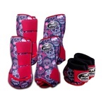 Kit Completo Cloche e Caneleiras Estampado Boots Horse 3757