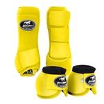 Kit Dianteiro Cloche e Caneleiras Amarelo Boots Horse 4959