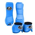 Kit Dianteiro Cloche e Caneleiras Color Azul Turquesa Boots Horse 3709