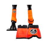 Kit Dianteiro Cloche e Caneleiras Laranja Boots Horse 3710
