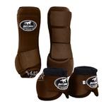 Kit Dianteiro Cloche e Caneleiras Color Marrom Boots Horse 3714