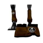 Kit Simples Cloche e Caneleiras Marrom Boots Horse 3714