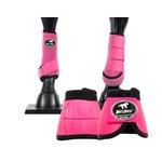 Kit Dianteiro Cloche e Caneleiras Pink Boots Horse 3706