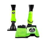 Kit Simples Cloche e Caneleiras Verde Limão Boots Horse 3707