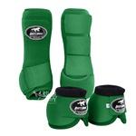 Kit Dianteiro Cloche e Caneleiras Color Verde Escuro Boots Horse 5091