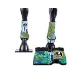 Kit Simples Cloche e Caneleiras Estampado Boots Horse 3764