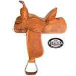 Sela de couro Três Tambores, Team Penning, Ranch Sorting, Bordada Nogueira 3695