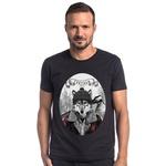 T-shirt Camiseta Lobo Lenhador Preto