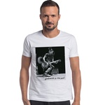 T-shirt Camiseta Lobo Rock Star Branco