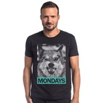 T-shirt Camiseta Lobo Segunda Feira