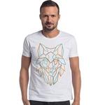 T-shirt Camiseta Lobo Line WOLF Branco