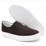 Slip On Casual Feminino Life Rock Suede Café