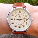 Relógio Ciclo do Café (Pulseira Marrom)