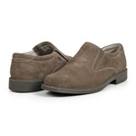 Sapato Calprado de Camurça Rato em Couro Legitimo