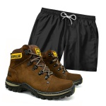 Kit Bota Robust Café + Short Praia Preto
