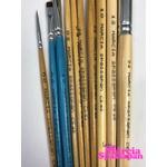 Kit de Pincéis Para Pintura em Tecido Completo Coleção Márcia Spassapan (Com 10 Pincéis)